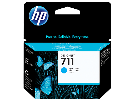 หมึก HP 711 29-ml Cyan DesignJet Ink Cartridge (CZ130A)
